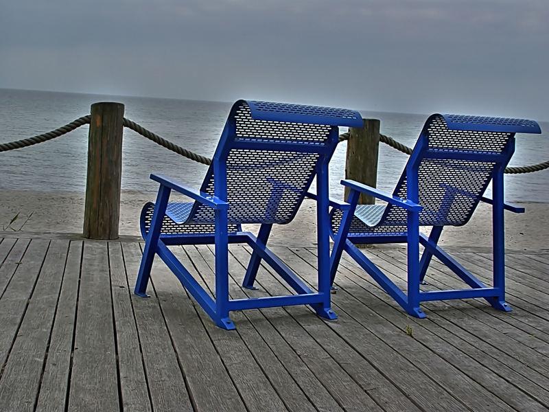 blaue Sitze