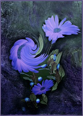 Blaue Strudel