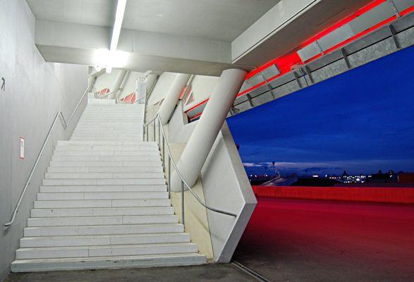 Blaue Stunde Allianz Arena Innenansicht