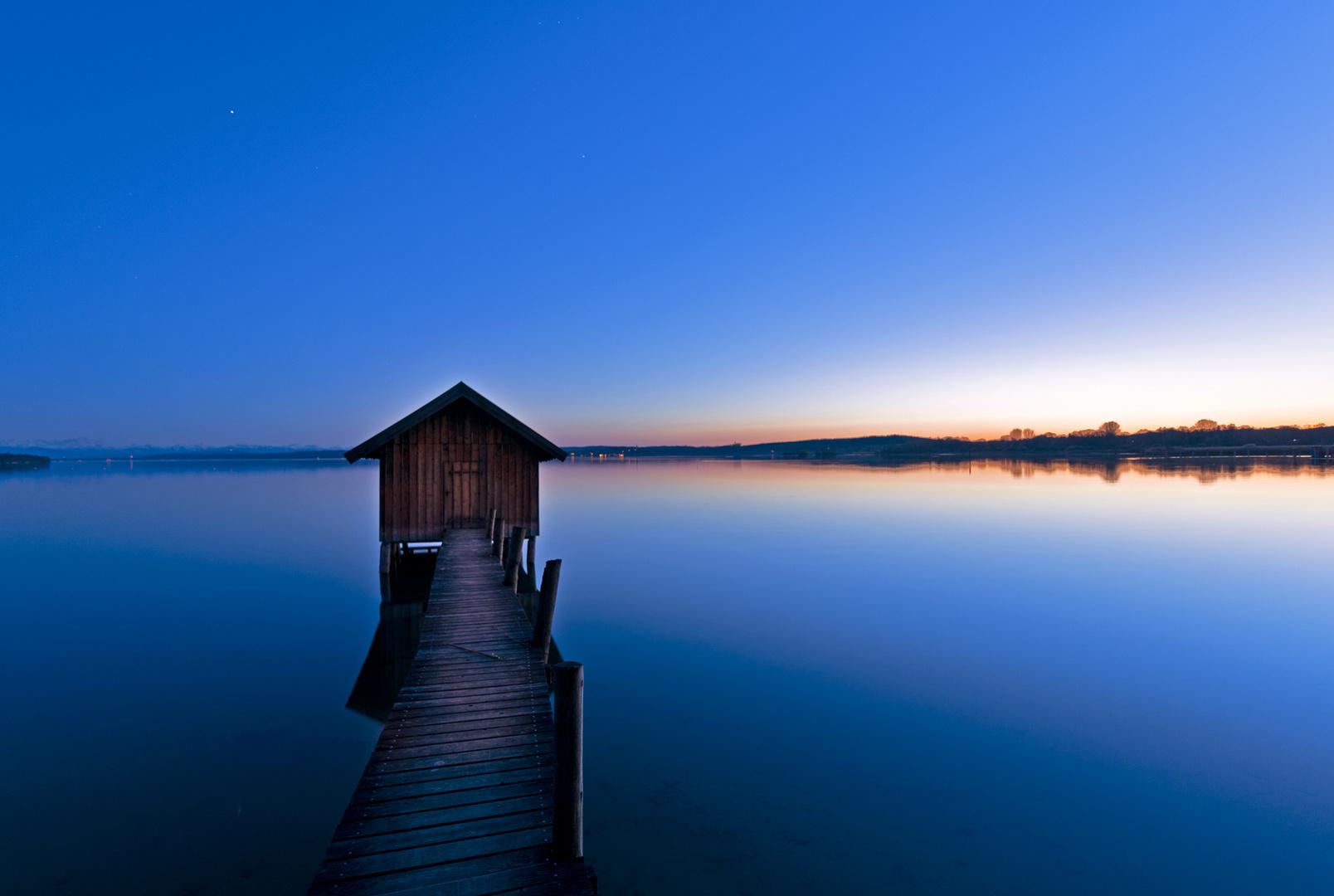Blaue Stunde am Ammersee