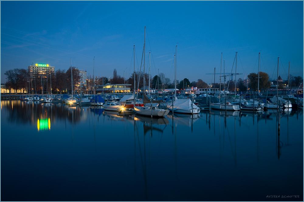 blaue Stunde am Bielersee