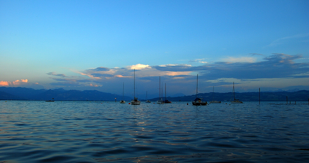 Blaue Stunde am Bodensee