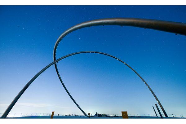 Blaue Stunde am Horizont - Observatorium