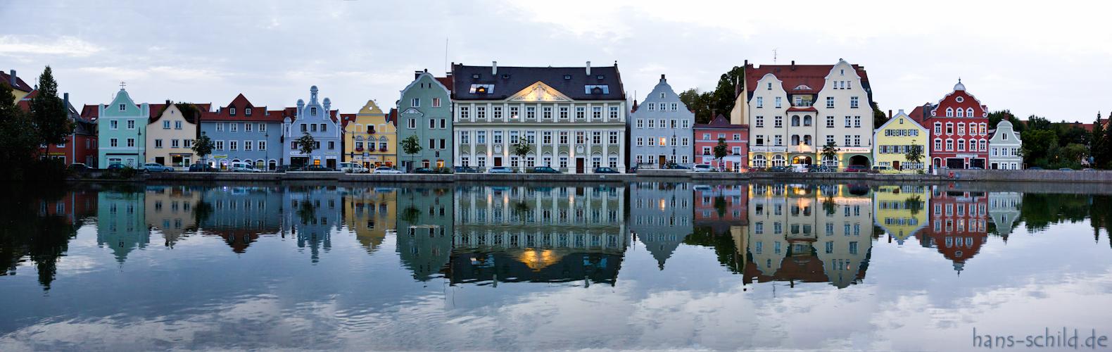 Blaue Stunde am Isargestade in Landshut