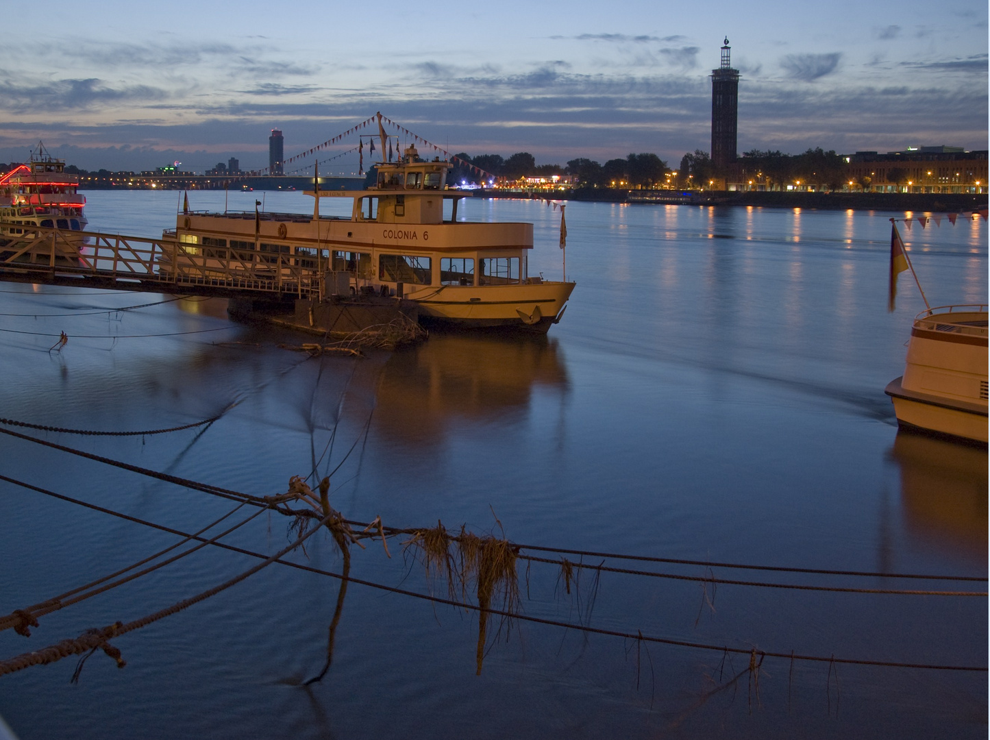 Blaue Stunde am Rhein