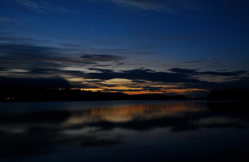 Blaue Stunde am Ryökäsvesi
