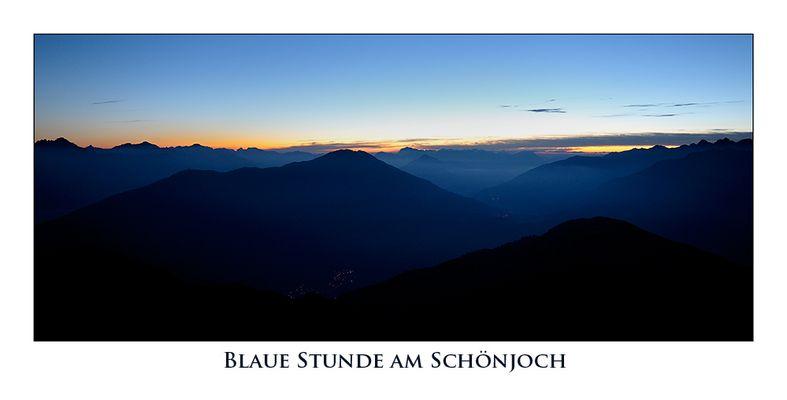 Blaue Stunde am Schönjoch