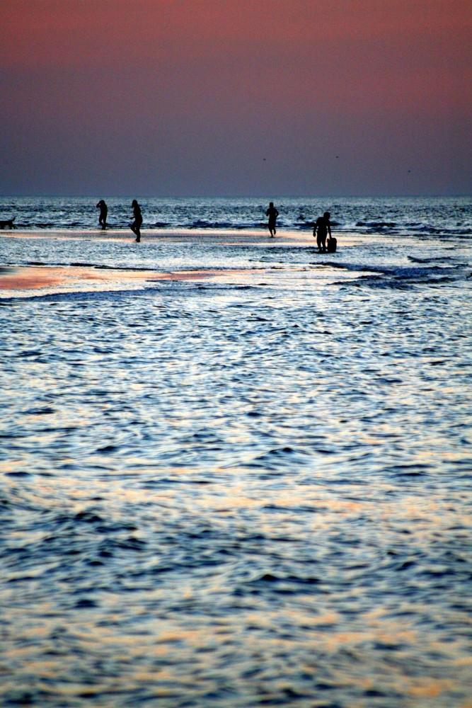 Blaue Stunde am Strand von Renesse
