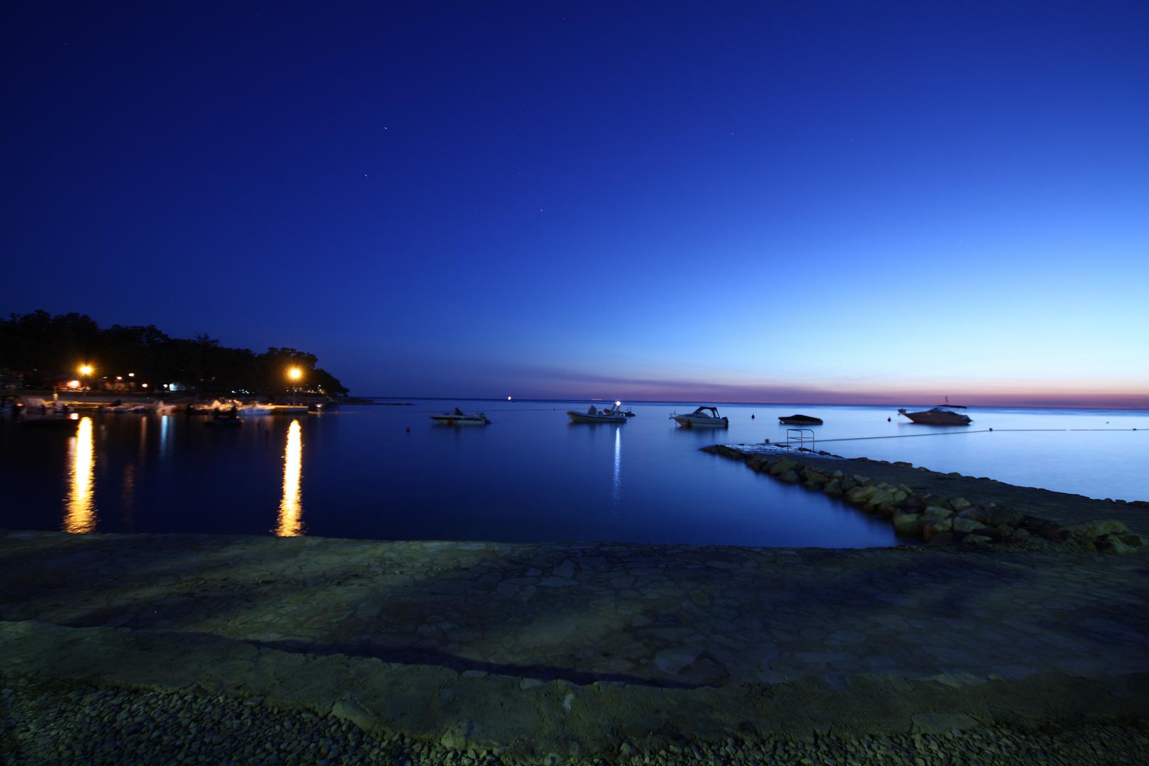Blaue Stunde an der Adria
