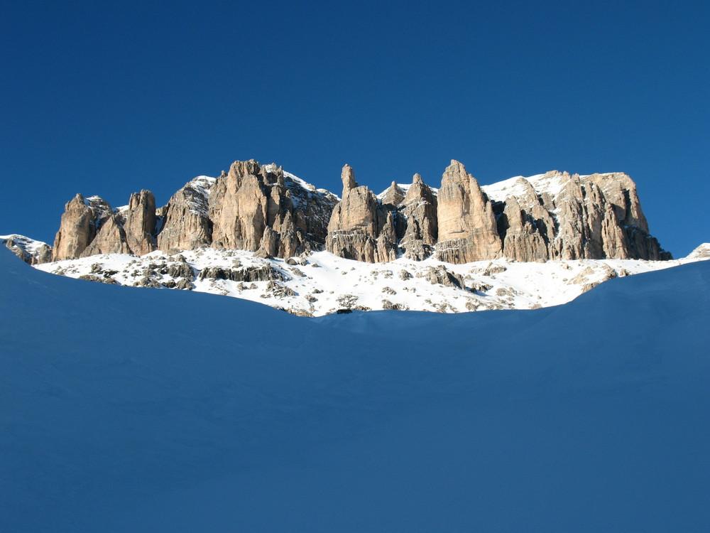 Blaue Stunde an der Sella/Dolomiten