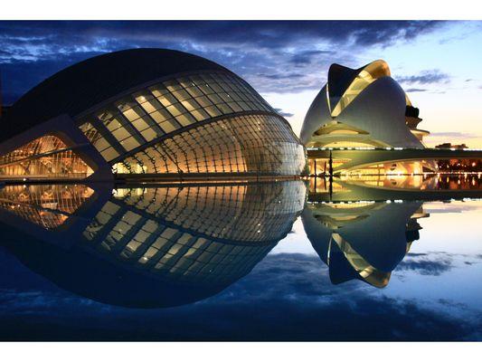 Blaue Stunde bei Calatrava