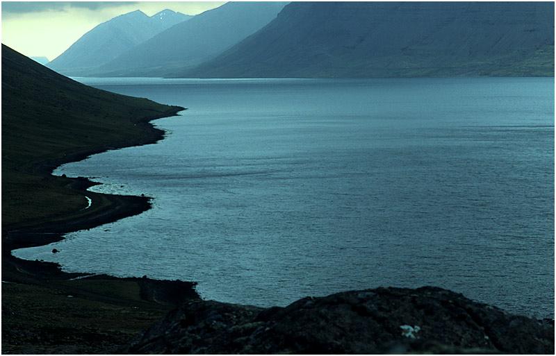 Blaue Stunde Fjord