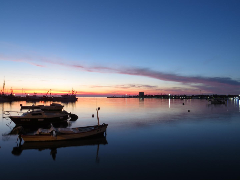 Blaue Stunde *Hafen von Umag*