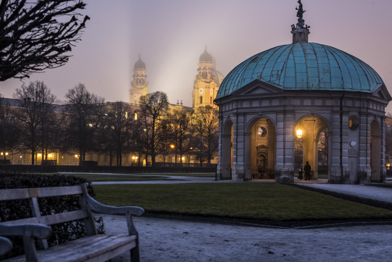 Blaue Stunde Hofgarten München