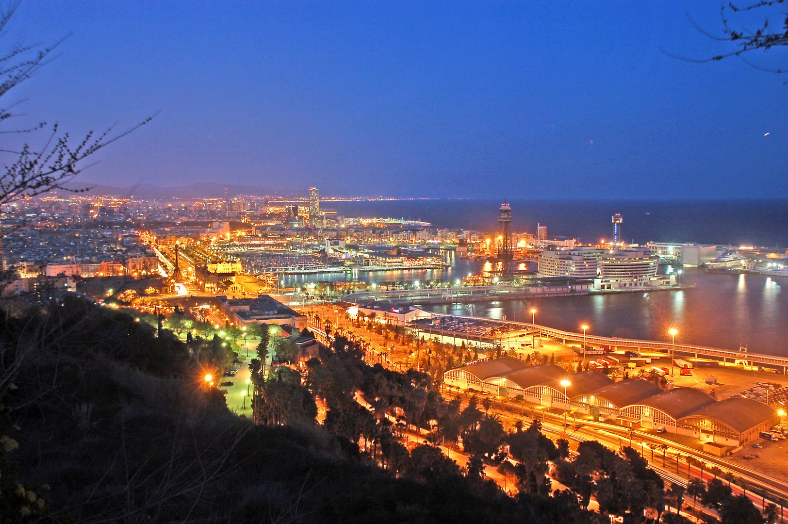Blaue Stunde in Barcelona