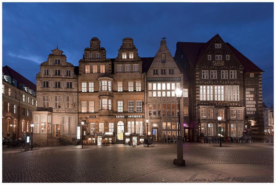 Blaue Stunde in Bremen