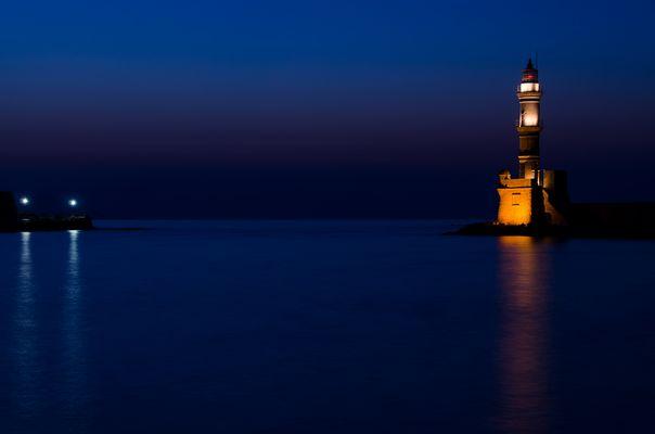 Blaue Stunde in Chania