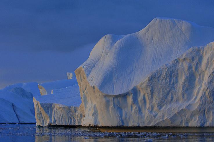 Blaue Stunde in Grönland