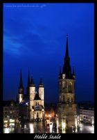 Blaue Stunde in Halle an der Saale