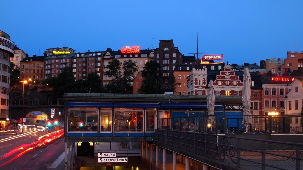 Blaue Stunde in Stockholm