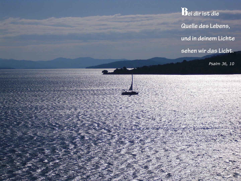 Blaue Stunde in Vodice/ Kroatien / Psalm 36, 10