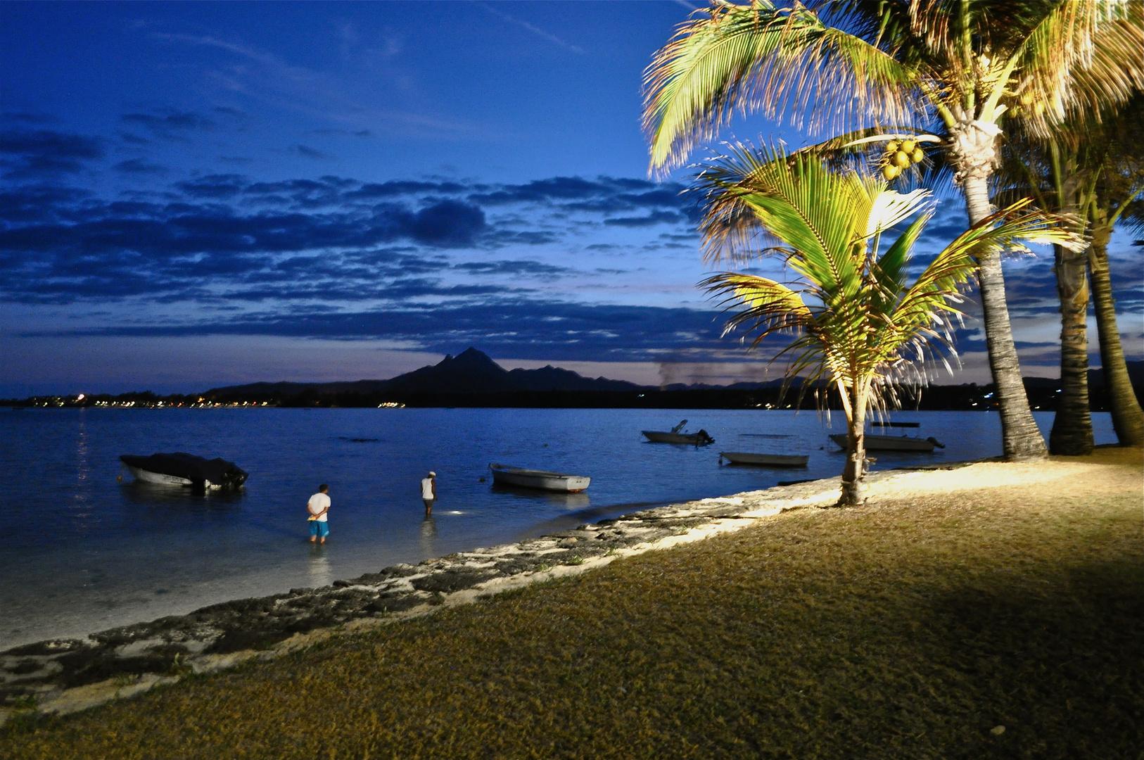 Blaue Stunde Mauritius