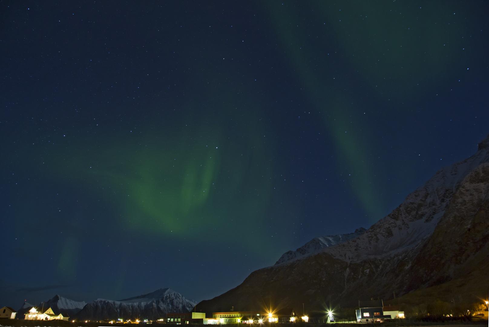 Blaue Stunde Nordlicht Lofoten