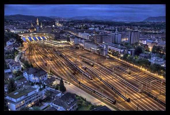Blaue Stunde über Bern