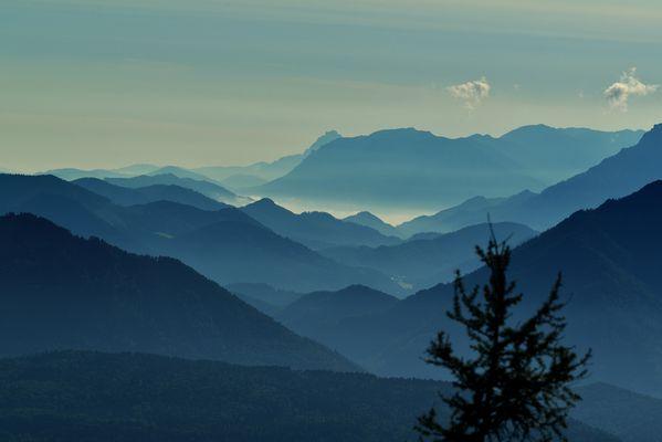 Blaue Stunde vom Untersberg