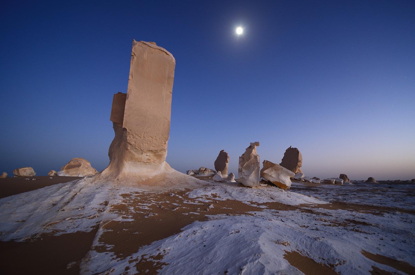 Blaue Stunde - Weisse Wüste, Ägypten Okt 2011