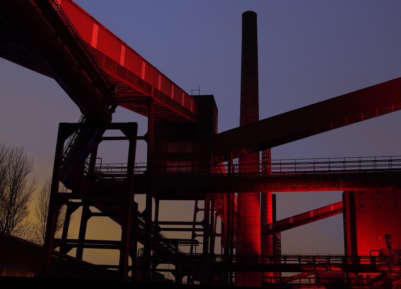 Blaue Stunde Zeche Zollverein