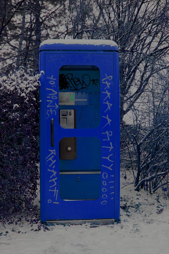 Blaue Telefonzelle