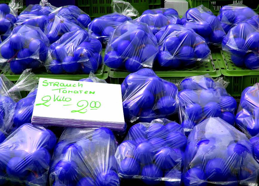 Blaue Tomaten