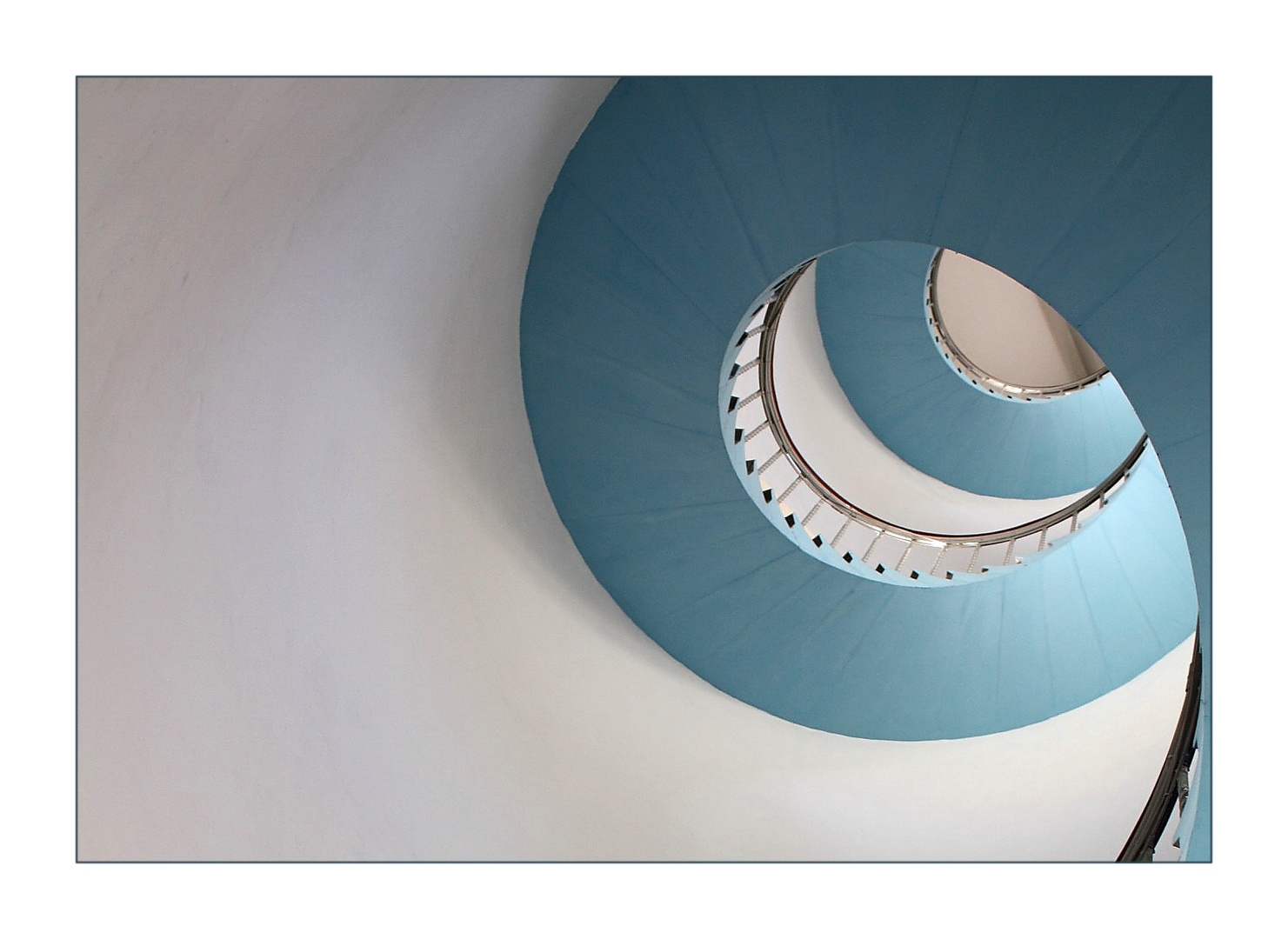 blaue Treppe