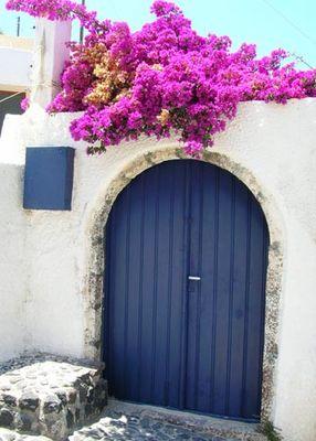 Blaue Türe
