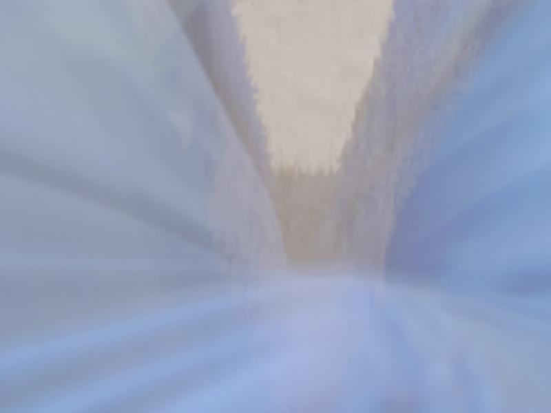 Blaue Wände