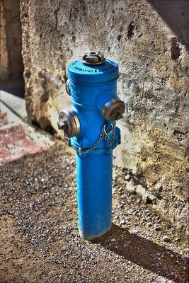 Blauer Hydrant!