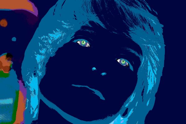blauer Junge