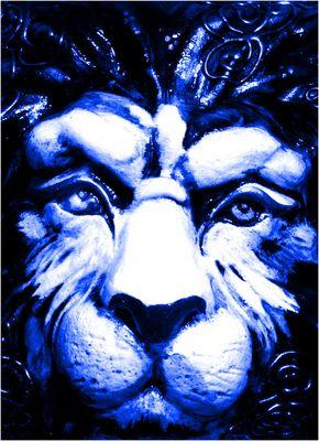 blauer Löwe