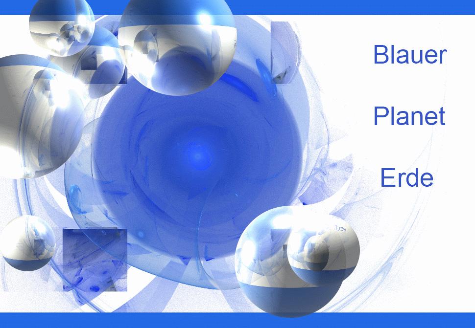 Blauer Planet Erde im APOland