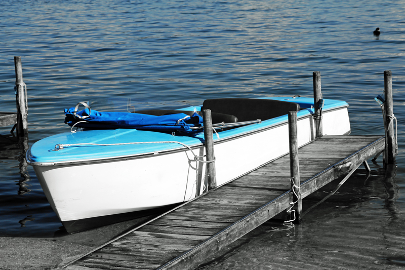 blaues Boot