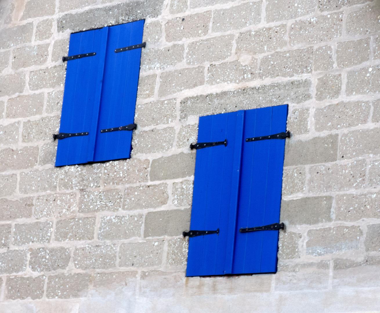 Blaues Doppel