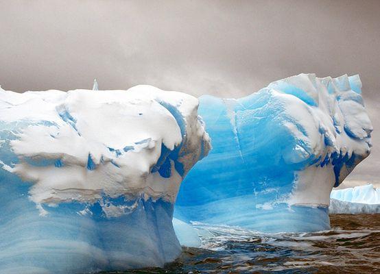 Blaues Eis der Antarktis