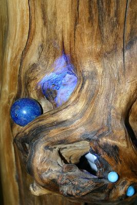 blaues Holz