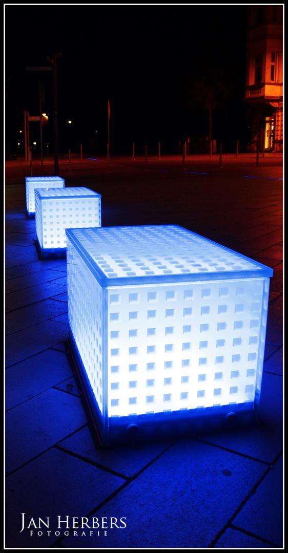 Blaues leuchten