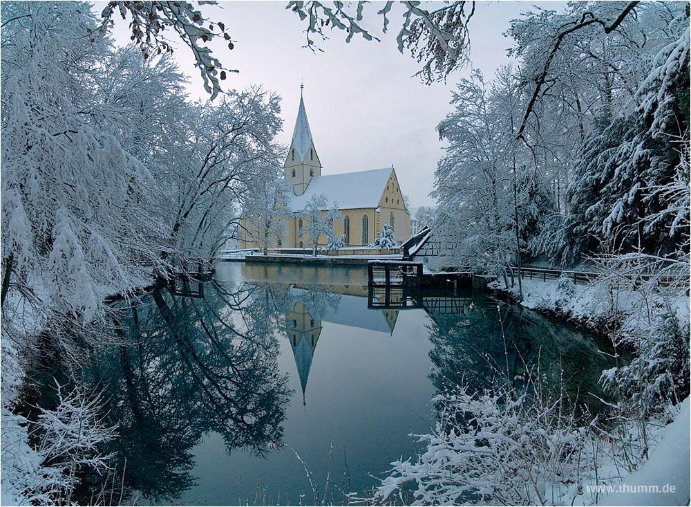 Blautopf im Winter
