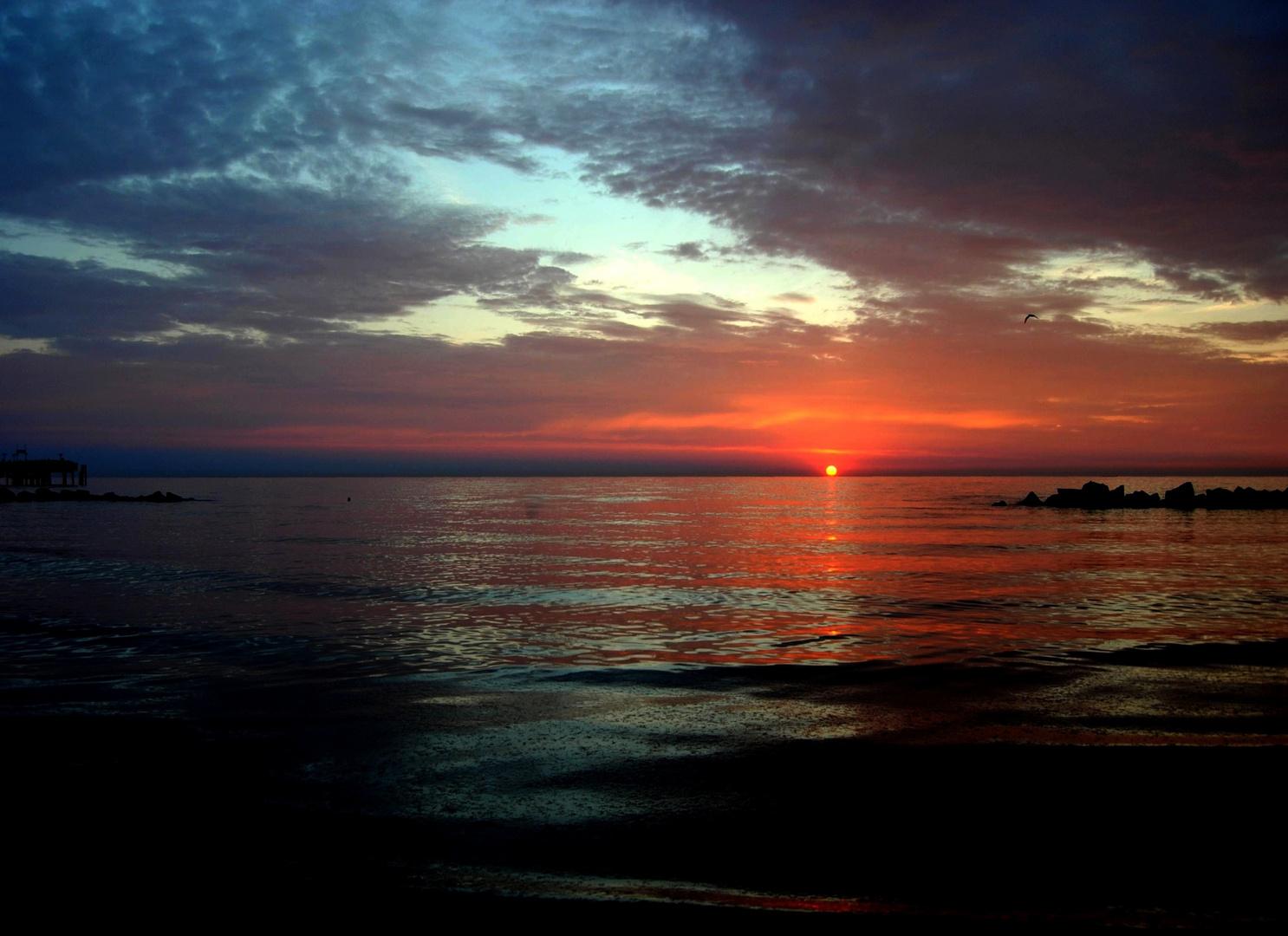 Bleierner Sonnenuntergang