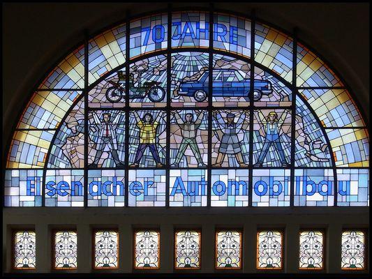 Bleiglasfenster im Bahnhof Eisenach