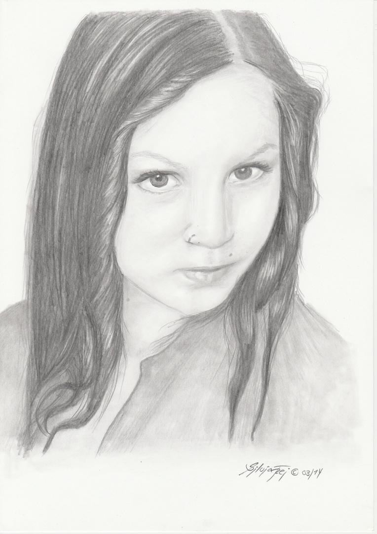 Bleistiftzeichnung Mädchen