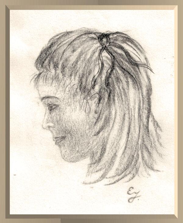 Bleistiftzeichnung von Erika Jäkel